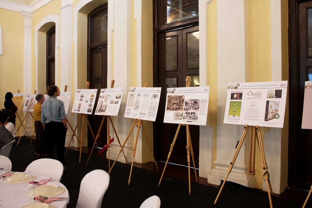 Ten exhibition panels on the Kapitan Keling Mosque and Muslim heritage in Penang