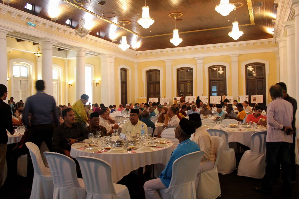 The launch of the Chulia in Penang was held in the majestic Town Hall
